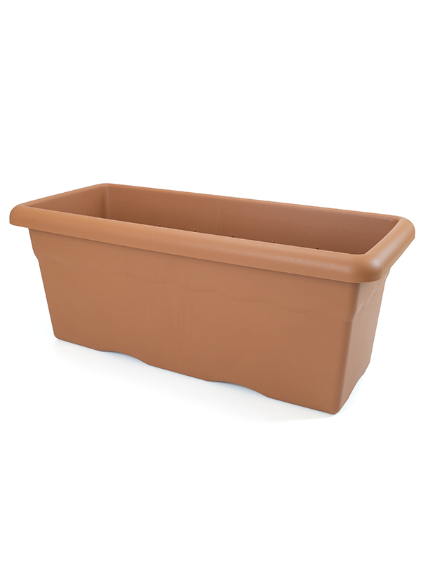PLANTER 60CM+PLATE+ METAL HOLDER