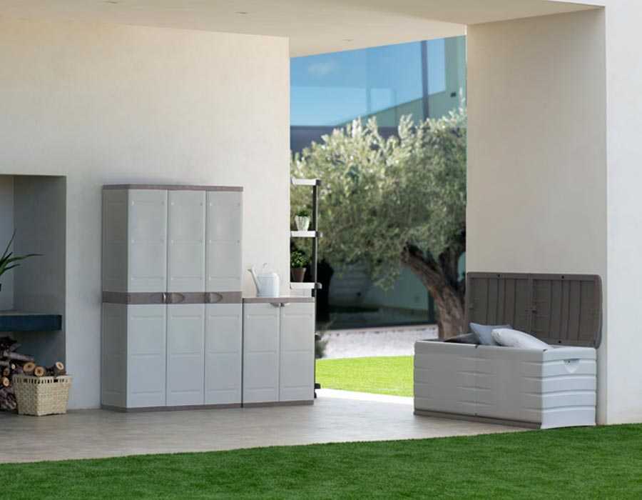 Armario exterior resina cool gallery of armario madera for Muebles resina exterior